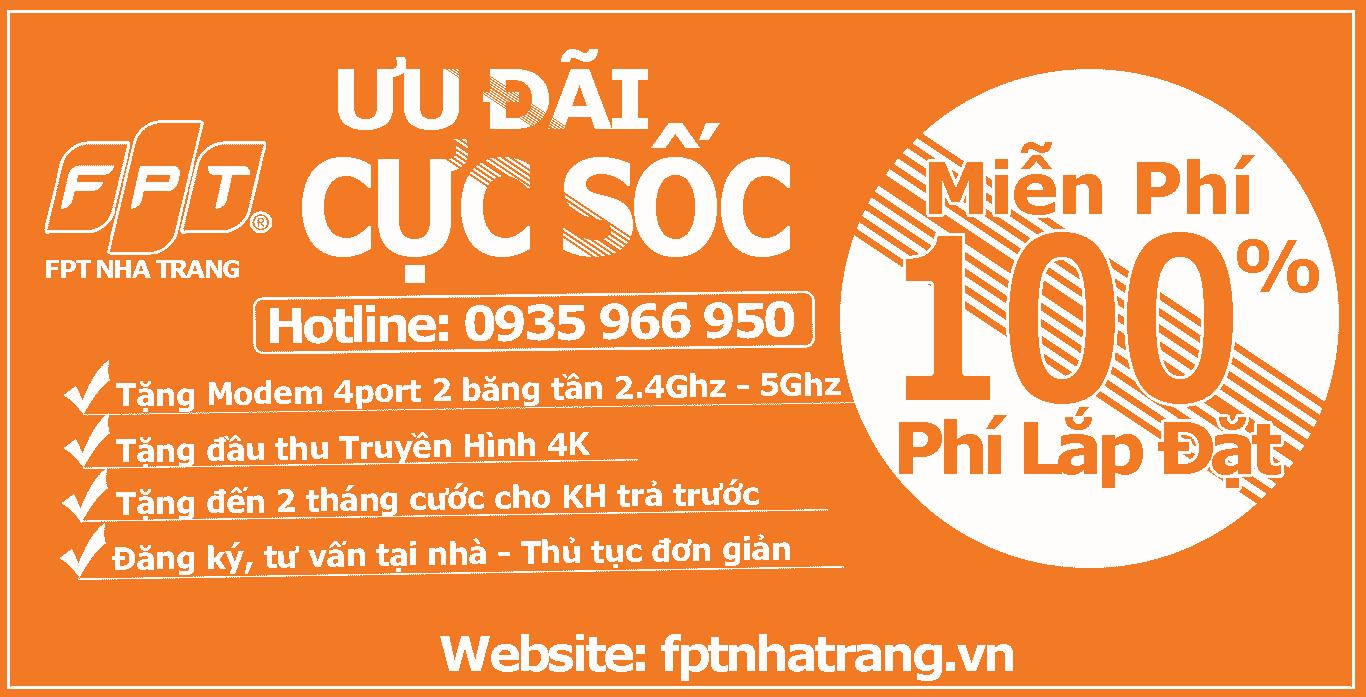 Lắp Mạng FPT Tại Khánh Hòa, Nha Trang , Vạn Ninh, Ninh Hòa, Diên Khánh